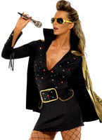 Adult Elvis Viva Las Vegas Black Costume [33253]