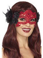 Embroidered Filigree Devil Eyemask