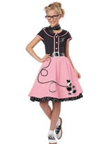 Child Black and Pink 50s Sweetheart Costume [00400]