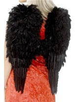 Adult Extra Large Black Feather Angel Wings [20900]