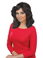 Adult Black Farrah Flick Wig