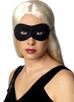 Adult Farfalla Black Satin Eye Mask