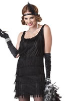 Fashion Flapper Costume Black