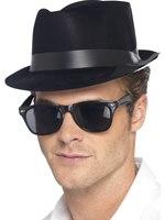 Fedora Hat Black Plastic [94191]