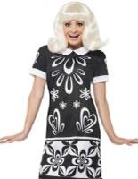 1960s Monochrome Missy Costume