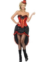 Adult Red Burlesque Dancer Costume