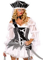 Fever Boutique 5 piece Pirate Costume [34349]