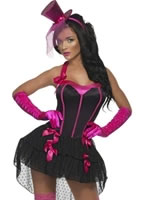 Adult Fever Bow Burlesque Costume