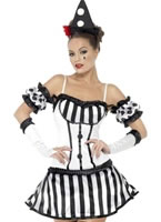 Adult Fever Clown Mime Diva Costume