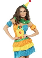 Adult Fever Colourful Clown Cutie Costume [24155]