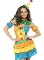 Adult Fever Colourful Clown Cutie Costume [24155]