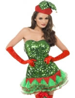 Adult Fever Elf Sequin Costume