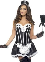 Adult Fever French Maid Costume [42333]