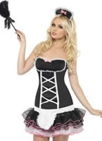 Adult Fever French Maid Fancy Costume [24290]