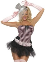 Adult Fever Fringe Stripe Burlesque Costume
