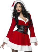 Adult Fever Hooded Santa Costume