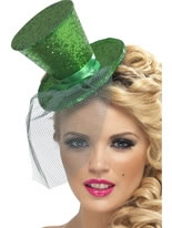 Fever Mini Dark Green Top Hat [21296]