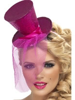 Fever Mini Hot Pink Top Hat [21194]