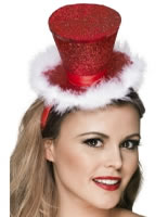 Fever Mini Top Hat with Marabou [39809]