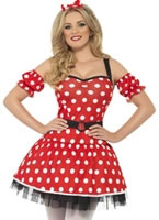 Adult Fever Minnie Mouse Costume