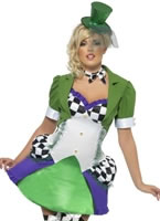 Adult Fever Miss Hatter Costume