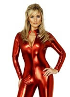 Adult Fever Miss-Tress Catsuit Costume