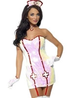 Adult Fever Nurse Dazzle Costume