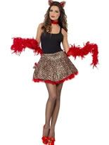 Adult Fever Party Glam Pussy Costume