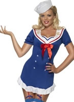 Adult Fever Pin Up Ahoy Sailor Costume
