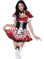 Adult Fever Red Riding Costume