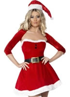 Adult Fever Santa Babe Costume