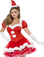 Adult Fever Santa Costume [43971]
