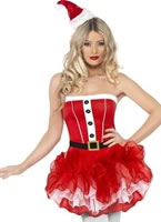 Adult Fever Santa TuTu Costume