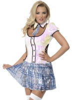 Adult Fever School Girl Bling Costume