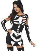 Fever Sexy Skeleton Costume