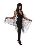 Fever Spider Web Lace Poncho