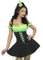 Adult Fever Wicked Witch Green Costume [30887]