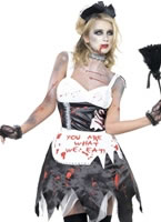 Fever Zombie French Maid Costume [23286]