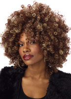Fine Foxy Fro Brown and Blonde Wig [70257]