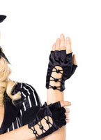 Fingerless Criss Cross Gloves [A1038]