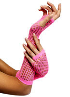 Fishnet Gloves Hot Pink