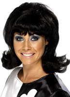 Flick Up 60s Lady Wig Black