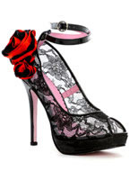 Flor Lace Peep Toe Shoe