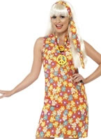 Flower Hippy Costume [26857]