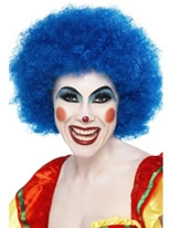 Crazy Clown Wig Blue