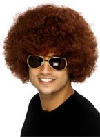 Funky Afro Brown Wig