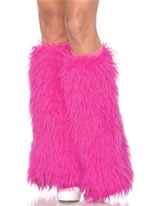 Hot Pink Furry Leg Warmers [3934HP]