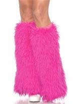 Hot Pink Furry Leg Warmers [3934HP]
