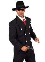 Deluxe Gangster Suit Costume Black