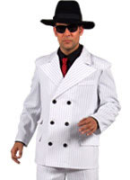 Adult Deluxe Gangster Suit Costume White